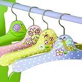 4 cintres bois pour penderie armoire vêtement chambre enfant bébé fille W-7482A1