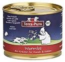 TERRA-PURA Tiernahrung 100% Bio-Kräutermischung Hunde und Katzen, Wurmlos, stärkt die körpereigenen Abwerkräfte Ihres Haustiers bei Würmern, Kräuterkur 80 g