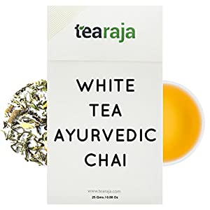 White-Tea-Ayurvedic-Chai25-GMS-Most-ENERGISING-Tea-on-Earth-Biggest-Stress-Buster-Highest-Anti-OXIDANTS-Aids-Weight-Loss-Healthy-Slimming-Tea