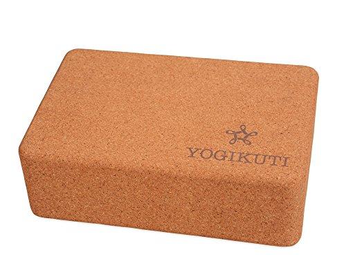 Yogikuti Cork Yoga Block/Eco Friendly/Sustainable harvested Cork/Light Weight in USA• (Large)