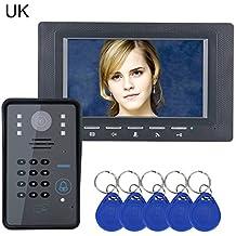 Lifesongs videocitofono citofono citofono 17,8cm RFID password citofono campanello con telecamera a infrarossi 1000TV Line for home Access Control System