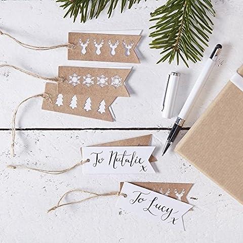 Rustic Christmas - Stag, Snowflake And Christmas Tree Gift Tags