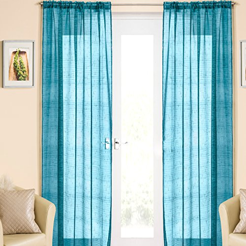 rkle Voile Curtain Panel Slotted Top 54 Wide x 48 Drop (138 cm x 122 cm) by CASABLANCA ()