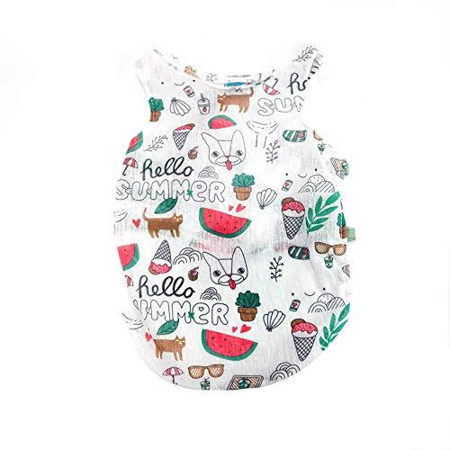 &liyanan Hundekleidung, Hund Sommer T-Shirt für kleine Hunde Sonnenschutz Hund Shirt Cute Puppy Weste Kleid Outfits Hund Bekleidung für Hawaii Urlaub,A,M (Party Für Hawaii-outfits Die)