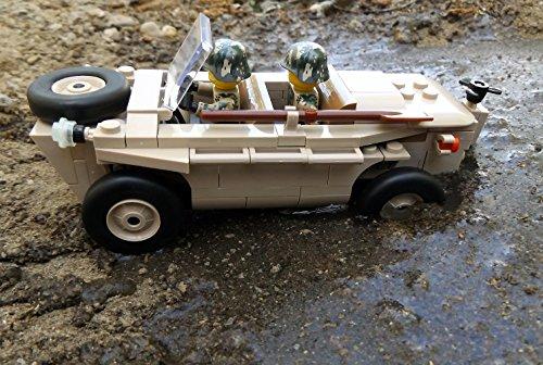 Modbrix 2188 – ☠ Bausteine VW Typ 166 Schwimmwagen XX Divison inkl. Custom Elite Wehrmacht Soldaten aus Lego© Teilen ☠ - 6