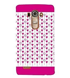 Hanging Hearts 3D Hard Polycarbonate Designer Back Case Cover for LG G4 :: LG G4 H815