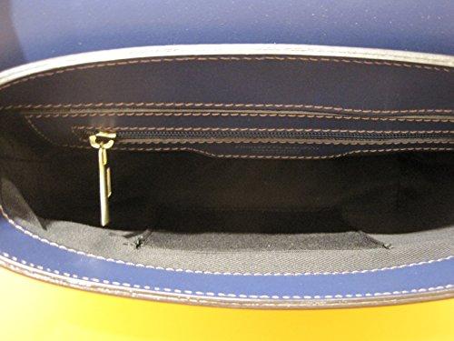 Francesco Lionetti - Borsa piccola a mano/tracolla - Made in Italy Navy liscio