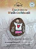 Schutzengel Weihnachten Stein in Handarbeit bemalt von Künstlern Fröhliche Weihnachten Karte 11x15cm