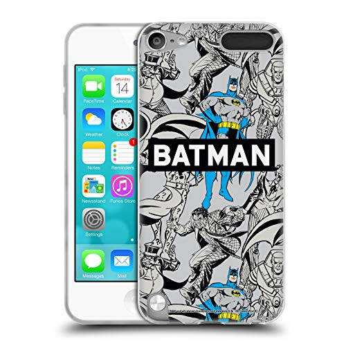 Head Case Designs Offizielle Batman DC Comics Muster Mode Vintage Soft Gel Huelle kompatibel mit Apple iPod Touch 5G 5th Gen