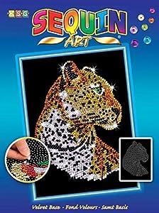 Sequin Art - Cuadro de decoración con Lentejuelas, diseño de Leopardo