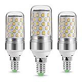 LOHAS ® 9Watt E14 LED Kerze Lampen, 80Watt Glühlampe äquivalent, 1000lm, Warmweiß 2700K, Nicht Dimmbar, Kleine Edison Schraube Kerze Glühbirnen, 220-240V AC, 3er Pack