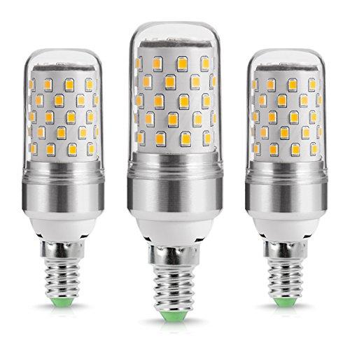 LOHAS ® 9Watt E14 LED Kerze Lampen, 80Watt Glühlampe äquivalent, 1000lm, Warmweiß 2700K, Nicht Dimmbar, Kleine Edison Schraube Kerze Glühbirnen, 220-240V AC, 3er Pack (Led-belegungs-sensor-licht)