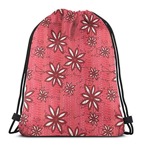 Girl Power Cap (vintage cap Flowers and Math - Girl Power_43433 3D Print Drawstring Backpack Rucksack Shoulder Bags Gym Bag for Adult 16.9