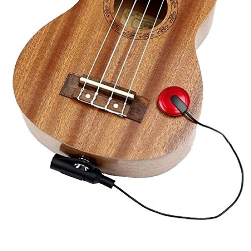EFORCAR Piezo Pickup Kontaktmikrofon Pickup für Gitarre Ukulele Violine (Die meisten Musikinstrument)
