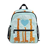 BIGJOKE Kids Backpack Giraffe Toddler Shoulder Travel Elementary School Bags Preschool Kindergarten for Girls Boys Children