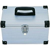 Estuche de Transporte para DVD o DVD con diseño de Disco de Ray DJJ, de Aluminio, Incluye Caja de Almacenamiento