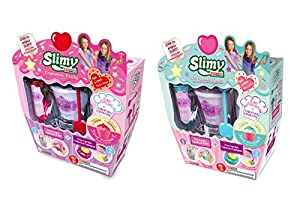 Slimy Creations Cup-Cake Slime Coleccionable, Color Fresa/Menta (Fábrica de Juguetes 41312)