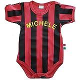Zigozago - Body Spielanzug Baby mit schwarzen und roten Streifen - 100% Baumwolle