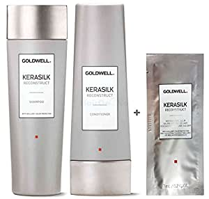 Goldwell Kerasilk Reconstruct Set - Shampoo 250ml + Conditioner 200ml + Restorative Balm Sachet 7ml