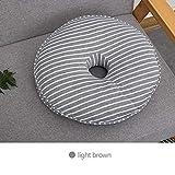LIRONG Office Beautiful Hip Cushion Memory Rotondo in Cotone, Cuscino per Studenti Spessi, Imbottitura per Il Calcio Imbottito Rallentamento Lento,B