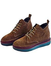 Martin botas nuevas botas de cuero grueso dentro de las botas altas , brown , 7