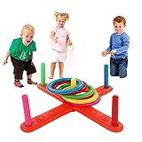 Omiky® Hoop Ring Toss Plastik Ring Toss Quoits Garten Spiel Pool Spielzeug Outdoor Fun Set NEU