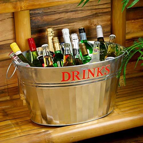 Acero galvanizado de bebidas con diseño de raquetas de bañera para Vintage servicio de bebidas