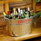 Acero galvanizado de bebidas con diseño de raquetas de bañera para Vintage servicio ...