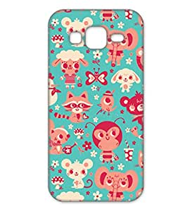 Happoz Samsung Galaxy J2 (J210) (2016) Cases Back Cover Mobile Pouches Patterns Floral Flowers Premium Printed Designer Cartoon Girl 3D Funky Shell Hard Plastic Graphic Armour Fancy Slim Graffiti Imported Cute Colurful Stylish Boys Z002