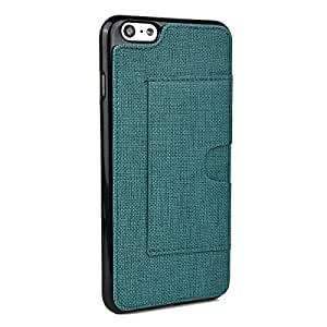Kroo Cell Phone Case with Card Holder for Apple iPhone 6 Plus/6s Plus - Non-Retail Packaging - Emerald Green