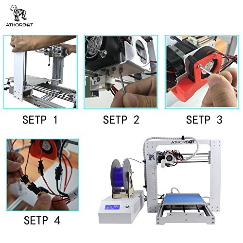 Athorbot Buddy 3D Drucker bereit PLA ABS TPU Flexible Prusa I3 Metal DIY set Large Print Size 210*270*200mm 24V -