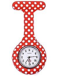 ShopyStore Style 7 Fashion Colorful Silicone Medical Nurse Watches Portable Brooch Fob Pocket Quar