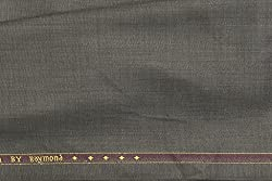 Raymond Trouser Fabric 1Pc 1.3Meter Trouser Length for Mens Solid Brown::Grey ( RaySpartaQuestBrownishgrey13m )