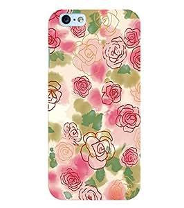 Citydreamz Floral Design Hard Polycarbonate Designer Back Case Cover For Apple Iphone 4/4S