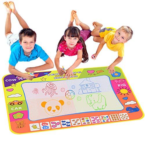 Wasser Doodle Matte, 80 * 60 cm Wasser Magie Zeichnung Matte Kind Malerei Spielen Mit 3 Doodle Malerei Pens-Ideales pädagogisches Spielzeug