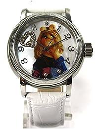 The Muppets Uhr Damenuhr Automatikuhr Miss Piggy Lederband Strass limitiert
