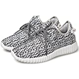 Toaho Unisexe Chaussures de Course Sports Fitness Gym Baskets Sneakers Poids Léger – Homme Femme Blanc 39