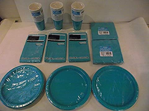 Teal Tableware Pack for 40 Guests
