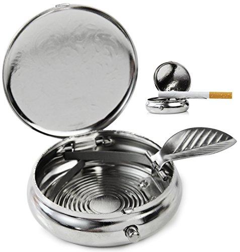 Seiler24 Taschen Aschenbecher Ornamente Mini Metall Ascher