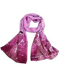 foulards, Tefamore Écharpes de châle de foulard de cou mou de mousseline ... 307c3273e7d