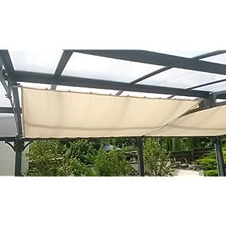 Floracord 04-77-03-18P Universal Sonnensegel und Bausatz 270 x 140 cm inklusive 20 Laufhaken montagefertig, elfenbein