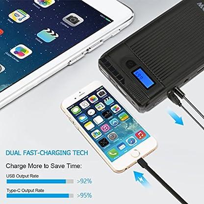 Superpow Jump Starter 8000mAh, 300A Batería Arrancador de Coche (Arranque Kit para Coche, Batería Externa Portátil, Pinzas Inteligentes, LED, USB Puertos) para Emergencia Smartphones
