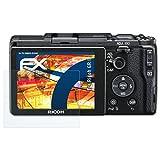 atFoliX Panzerfolie für Ricoh GR II Folie - 3 x FX-Shock-Clear stoßabsorbierende ultraklare Displayschutzfolie