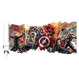 JUNMAONO Die Avengers Captain America Kunst Wandaufkleber/Wandgemälde/Wand Poster/Wandbild Aufkleber/Wandbilder/Wandtattoo/Pinupbild/Beschriftung/Pad einfügen/Tapete/Tapezieren/Tapeten/Wand Zeitung/Wandmalerei/Haftnotiz/Fühlen Sie sich frei zu kleben/Instant Aufkleber/3D-Stereo-Wandaufkleber