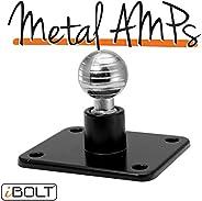 لوحة محول iBOLT من الألومنيوم 17 مم AMPs - لأجهزة Garmin GPS وحوامل الهواتف الذكية ومحولات الصناعة القياسية ال
