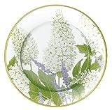 Caspari Salatteller/Dessertteller, Fleur de Hochzeit, weiß, 8er Pack, 8Stück