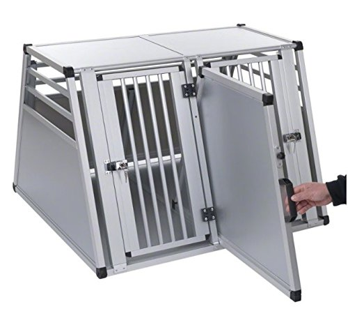 Aluline Robust and Lightweight Double Dog Crate - Safe and Comfortable Way to Transport Larger Dogs when Travelling by… 4