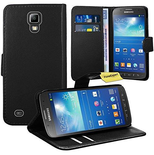 a44daa14a1e FoneExpert® Samsung Galaxy S4 Active i9295 Housse Coque Etui Housse Coque  en Cuir Portefeuille Wallet