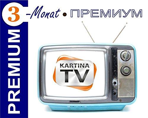 Preisvergleich Produktbild Kartina.TV 3 Monat Abo PREMIUM ohne Vertragsbindung Ruskoe TV Archiv Videothek HD TV