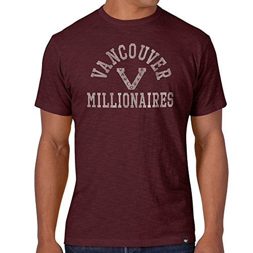 '47 Brand Vancouver Millionaires Scrum Logo NHL T-Shirt Maroon XL